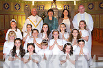 Pupils from Castleisland Presentation who received their First Holy Communion in St Stephen's and John's church Castleisland on Saturday         Copyright Kerry's Eye 2008