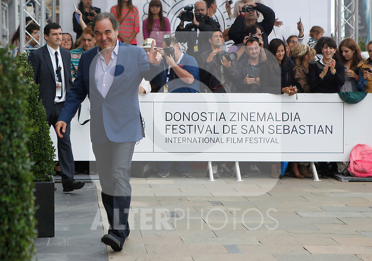 Director Oliver Stone arrives to Maria Cristina Hotel to attend the 61 San Sebastian Film Festival, in San Sebastian, Spain. September 20, 2013. (ALTERPHOTOS/Victor Blanco)