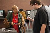 Gwen Polite, Poll worker at South Durham Library, Durham, North Carolina Election Day, November 6, 2012. .