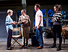 Prism <br /> by Terry Johnson <br /> at Hampstead Theatre, London, Great Britain <br /> press photocall <br /> 11th September 2017 <br /> <br /> Claire Skinner as Nicola <br /> Robert Lindsay as Jack Cardiff <br /> Barnaby Kay as Mason <br /> Rebecca Night as Lucy <br /> <br /> <br /> <br /> Designed by Tim Shortall<br /> Lighting by Ben Ormerod<br /> Sound by John Leonard <br /> Casting by Suzanne Crowley and Gilly Poole <br /> <br /> <br /> Photograph by Elliott Franks <br /> Image licensed to Elliott Franks Photography Services