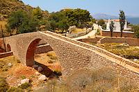 Ancient pack horse bridge at Vlychos , Hydra,  Greek Saronic Islands.