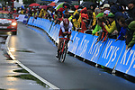 Alexander Kristoff (NOR) Team Katusha Alpecin in action during Stage 1, a 14km individual time trial around Dusseldorf, of the 104th edition of the Tour de France 2017, Dusseldorf, Germany. 1st July 2017.<br /> Picture: Eoin Clarke | Cyclefile<br /> <br /> <br /> All photos usage must carry mandatory copyright credit (&copy; Cyclefile | Eoin Clarke)
