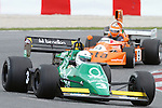 22.04.2012 Barcelona, Spain. GP Masters. Pictures show driver Ian Simmonds GBR with tyrell 012  at Circuit Catalunya