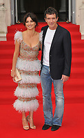 "LONDON, ENGLAND - AUGUST 08: Penélope Cruz and Antonio Banderas at the ""Pain and Glory"" Film4 Summer Screen opening gala & launch party, Somerset House, The Strand, on Thursday 08 August 2019 in London, England, UK.<br /> CAP/CAN<br /> ©CAN/Capital Pictures"