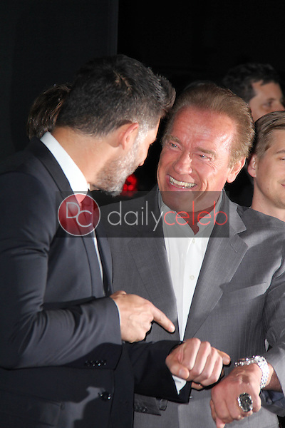 Joe Manganiello, Arnold Schwarzenegger<br />