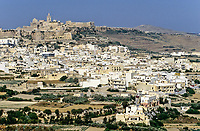 Victoria, Rabat, Gozo, Malta.  Citadel and Cathedral on City Hill.
