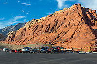 Red Rock Canyon, Nevada.  Calico Hills Parking Lot.