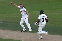 Jamie Porter of Essex celebrates taking the wicket of Samit Patel during Nottinghamshire CCC vs Essex CCC, Specsavers County Championship Division 1 Cricket at Trent Bridge on 12th September 2018