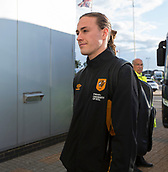 8th September 2017, Pride Park Stadium, Derby, England; EFL Championship football, Derby County versus Hull City; Jackson Irvine of Hull City arriving at Pride Park Stadium before the match