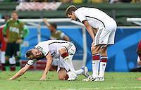 FUSSBALL WM 2014  VORRUNDE    GRUPPE G     Deutschland - Ghana                 21.06.2014 Toni Kroos (li) und Thomas Mueller (re, beide Deutschland)