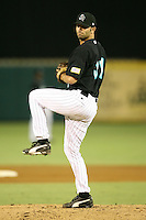 April 13, 2009:  Relief Pitcher Brett Harker (31) of the Jupiter Hammerheads, Florida State League Class-A affiliate of the Florida Marlins, delivers a pitch during a game at Roger Dean Stadium in Jupiter, FL.  Photo by:  Mike Janes/Four Seam Images