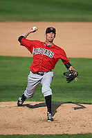 Indianapolis Indians pitcher A.J. Morris (30) delivers a pitch during a game against the Rochester Red Wings on June 10, 2015 at Frontier Field in Rochester, New York.  Indianapolis defeated Rochester 5-3.  (Mike Janes/Four Seam Images)