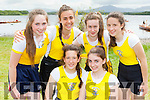 muckross RC girls l-r Emma Goulding, Rebecca O'Reilly, back Louise Cronin, Aoife farrell, Emma lenihan and Ciara Ferris at the Killarney Regatta on Sunday