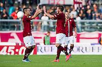 Esultanza Cristian Pasquato Gol 2-0 Livorno<br /> Livorno 24-10-2015 Stadio Armando Picchi - Football Calcio Serie B 2015/2016 Livorno - Modena<br /> Foto Andrea Masini / Insidefoto