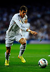 Gareth Bale gestures during the Spanish league football match Real Madrid CF vs Valencia CF at the Santiago Bernabeu stadium in Madrid on May 4, 2014. PHOTOCALL3000/