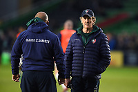 Leicester Tigers Forwards Coach Mark Bakewell looks on during the pre-match warm-up. Gallagher Premiership match, between Harlequins and Leicester Tigers on May 3, 2019 at the Twickenham Stoop in London, England. Photo by: Patrick Khachfe / JMP
