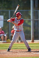 Indiana Hoosiers designated hitter Chris Lowe (26) at bat during a game against the Illinois State Redbirds on March 4, 2016 at North Charlotte Regional Park in Port Charlotte, Florida.  Indiana defeated Illinois State 14-1.  (Mike Janes/Four Seam Images)