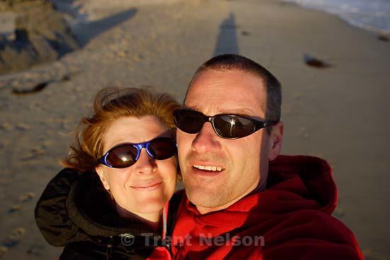 laura nelson, trent nelson, Pfeiffer beach; 6.12.2005<br />