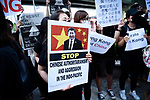 JUNE 28, 2019 - Hong Kong residents and supporters protest China during the G20 Summit in Osaka, Japan. (Photo by Ben Weller/AFLO) (JAPAN) [UHU]