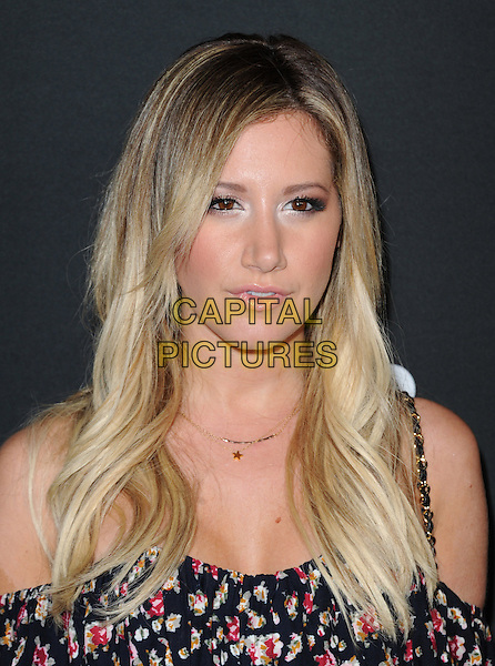 Ashley Tisdale<br /> The Myspace Event held at The El Rey Theatre in Los Angeles, California, USA.<br /> June 12th, 2013   <br /> headshot portrait top red black pink floral print off the shoulder <br /> CAP/DVS<br /> &copy;DVS/Capital Pictures