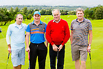 Derek George, Jeffrey Malony, pat Mahony, and Pierce Prenderville the Killorglin basketball club golf classic in Killorglin golf club on Friday