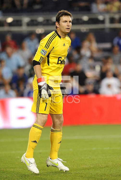 Vancouver Whitecaps goalkeeper Joe Cannon... Sporting KC defeated Vancouver Whitecaps 2-1 at LIVESTRONG Sporting Park, Kansas City, Kanas.
