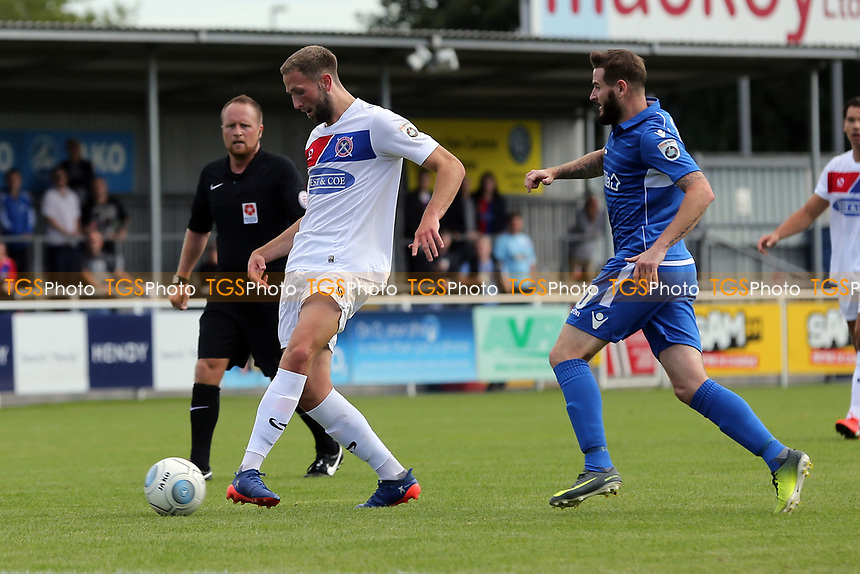 Mark Yeates of Eastleigh and Luke Pennell of Dagenham during Eastleigh vs Dagenham & Redbridge, Vanarama National League Football at the Silverlake Stadium on 12th August 2017