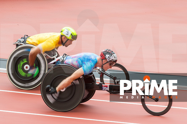 David WEIR of GBR winner of the T54 800m in a time of 2.02.37 during the Muller London Anniversary Games 2017 at the Queen Elizabeth Park, Olympic Park, London, England on 9 July 2017.  Photo by Andy Rowland.