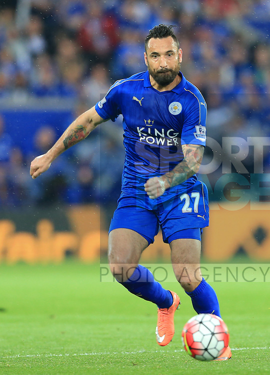 Leicester's Marcin Wasilewski in action during the Barclays Premier League match at the King Power Stadium.  Photo credit should read: David Klein/Sportimage