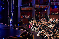 Josh Gad presents onstage during the live ABC telecast of the 92nd Oscars® at the Dolby® Theatre in Hollywood, CA on Sunday, February 9th, 2020.					<br /> *Editorial Use Only*<br /> CAP/AMPAS<br /> Supplied by Capital Pictures