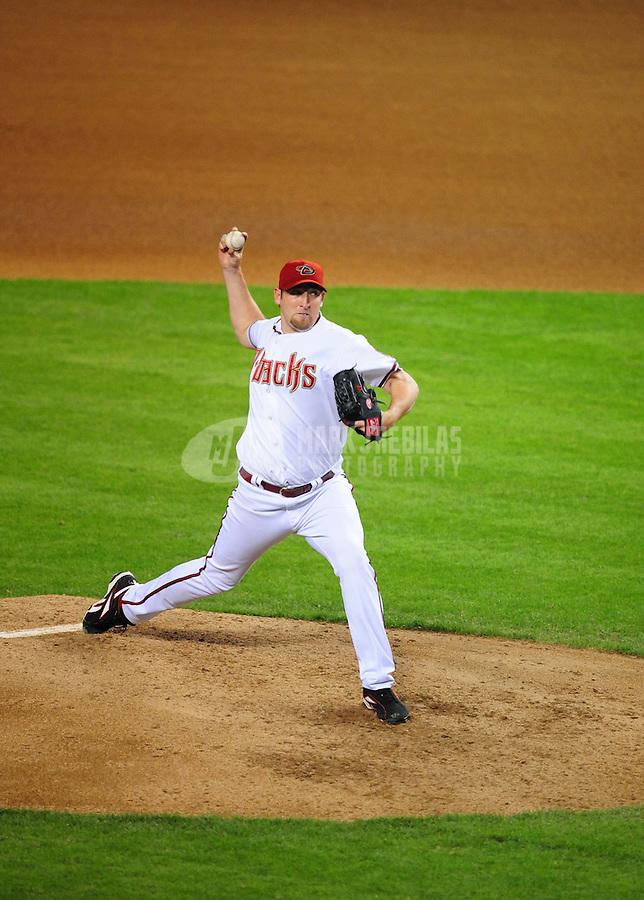 May. 15, 2008; Phoenix, AZ, USA; Arizona Diamondbacks pitcher Brandon Webb against the Colorado Rockies at Chase Field. Mandatory Credit: Mark J. Rebilas-