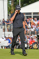 Patrick Cantlay (USA) sinks his long birdie putt on 18 during Rd4 of the 2019 BMW Championship, Medinah Golf Club, Chicago, Illinois, USA. 8/18/2019.<br /> Picture Ken Murray / Golffile.ie<br /> <br /> All photo usage must carry mandatory copyright credit (© Golffile | Ken Murray)