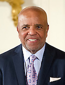 Berry Gordy, Record Producer & Songwriter of Los Angeles, California listens as the citation is read prior to receiving the 2015 National Medal of Arts during a ceremony in the East Room of the White House in Washington, DC on Thursday, September 22, 2016.<br /> Credit: Ron Sachs / CNP