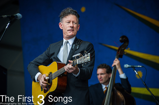 Lyle Lovett performs during the New Orleans Jazz & Heritage Festival in New Orleans, LA.