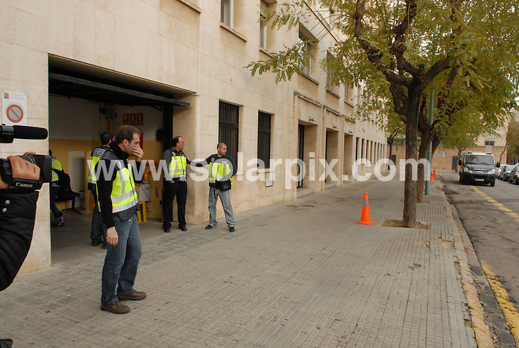 **ALL ROUND EXCLUSIVE PICTURES FROM SOLARPIX.COM**.**WORLDWIDE SYNDICATION RIGHTS**.The three people who were arrested in Spain over the kidnap of British boy Sahil Saeed in Pakistan, left court in Tarragona tonight. Two Pakistani men and a Romanian woman were held near Tarragona, in north east Spain, in connection with the case...This pic: Tarragona court back entrance.FULL STORY FROM TOM WORDEN..JOB REF:  10926    NSP       DATE:   18.03.10.**MUST CREDIT SOLARPIX.COM OR DOUBLE FEE WILL BE CHARGED**.**MUST NOTIFY SOLARPIX OF ONLINE USAGE**.**CALL US ON: +34 952 811 768 or LOW RATE FROM UK 0844 617 7637**