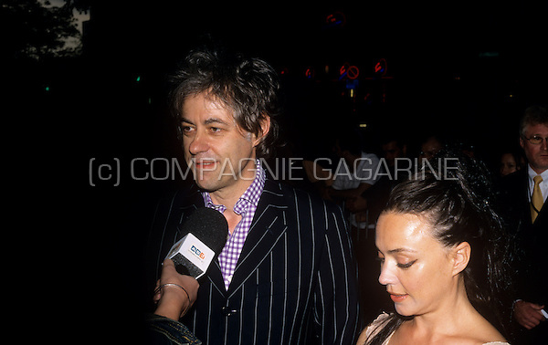 Bob Geldof at the IFPI Europe Platinum Awards in Brussels, Belgium, 10/07/2002
