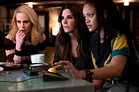 Ocean's 8 (2018)<br /> (Ocean's Eight)<br /> Sarah Paulson, Sandra Bullock &amp; Rihanna<br /> *Filmstill - Editorial Use Only*<br /> CAP/MFS<br /> Image supplied by Capital Pictures