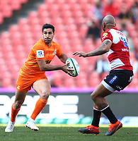 Jeronimo de le Fuente of the Jaguares during the Super Rugby quarter-final match between the Emirates Lions and the Jaguares at the Emirates Airlines Park Stadium,Johannesburg, South Africa on Saturday, 21 July 2018. Photo: Steve Haag / stevehaagsports.com