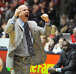 "Mississippi head coach Andy Kennedy reacts in the final seconds against Tennessee at the C.M. ""Tad"" Smith Coliseum on Thursday, January 24, 2013. Mississippi won 62-56 to improve to 5-0 in the SEC. (AP Photo/Oxford Eagle, Bruce Newman)"