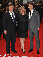 Glen Powell Sr., Cyndy Powell and Glen Powell at the &quot;The Guernsey Literary And Potato Peel Pie Society&quot; world film premiere, Curzon Mayfair cinema, Curzon Street, London, England, UK, on Monday 09 April 2018.<br /> CAP/CAN<br /> &copy;CAN/Capital Pictures