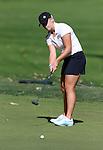 SIOUX FALLS, SD - SEPTEMBER 22:  South Dakota State University's Hallie Getz rolls her birdie putt on the 11th hole Monday at the Jackrabbit Invitational at Minnehaha Country Club. (Photo/Dave Eggen/Inertia)