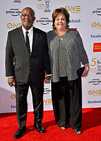 LOS ANGELES, CA. March 30, 2019: Ron Stallworth & Patsy Terrazas-Stallworth at the 50th NAACP Image Awards.<br /> Picture: Paul Smith/Featureflash