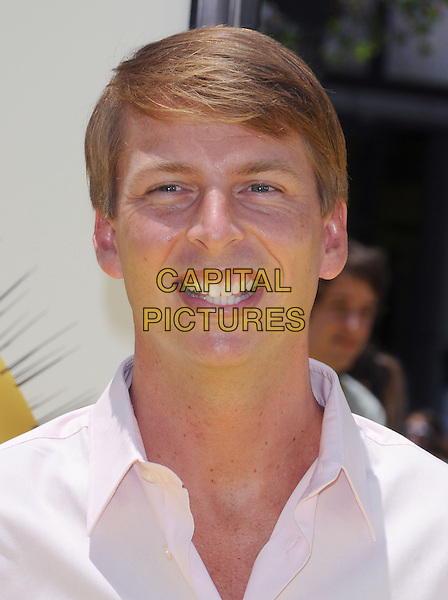 "JACK McBRAYER .at the Universal Pictures' World Premiere of ""Despicable Me"" held during the Los Angeles Film Festival at Nokia Live in Los Angeles, California, USA, June 27th 2010..portrait headshot smiling pink shirt                                                                    .CAP/RKE/DVS.©DVS/RockinExposures/Capital Pictures."