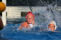 10 May 2008: Stanford Cardinal Heather West during Stanford's 10-6 loss against the USC Trojans in the National Collegiate Women's Water Polo Tournament semifinal game at Avery Aquatic Center in Stanford, CA.