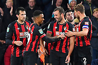 Steve Cook of AFC Bournemouth centre celebrates scoring the second goal with Junior Stanislas of AFC Bournemouth who scored the first during AFC Bournemouth vs Norwich City, Caraboa Cup Football at the Vitality Stadium on 30th October 2018