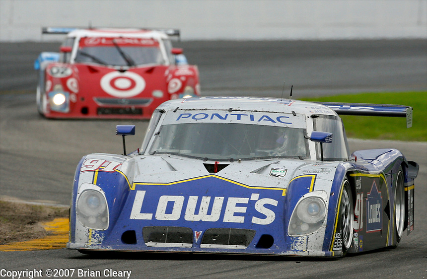 Rolex 24 @ Daytona, Daytona International Speedway, Daytona Beach FL , January 2007.(Photo by Brian Cleary)