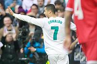 Real Madrid's Cristiano Ronaldo celebrates goal during La Liga match.December 09,2017. (ALTERPHOTOS/Acero)<br /> Liga Campionato Spagna 2017/2018<br /> Foto Alterphotos / Insidefoto <br /> ITALY ONLY
