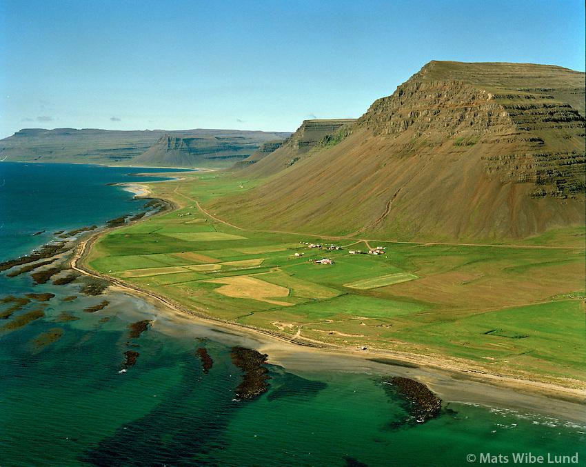 Innri-Múli og Ytri-Múli séð til vesturs, Vesturbyggð áður Barðastrandarhreppur / Innri-Muli and Ytri-Muli viewing west, Vesturbyggd former Bardastrandarhreppur.