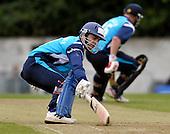 Scottish Saltires V Surry Lions - CB40 Cricket - Citylets Grange ground in Edinburgh - Lions batsman Preston Mommsen completes a run with Neil McCallum - Picture by Donald MacLeod - 15.05.11 - 07702 319 738 - www.donald-macleod.com - clanmacleod@btinternet.com