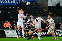 Craig Gilroy of Ulster in action during the Guinness Pro14 Round 11 match between the Ospreys and Ulster Rugby at the Liberty Stadium in Swansea, Wales, UK. Saturday 15 February  2020